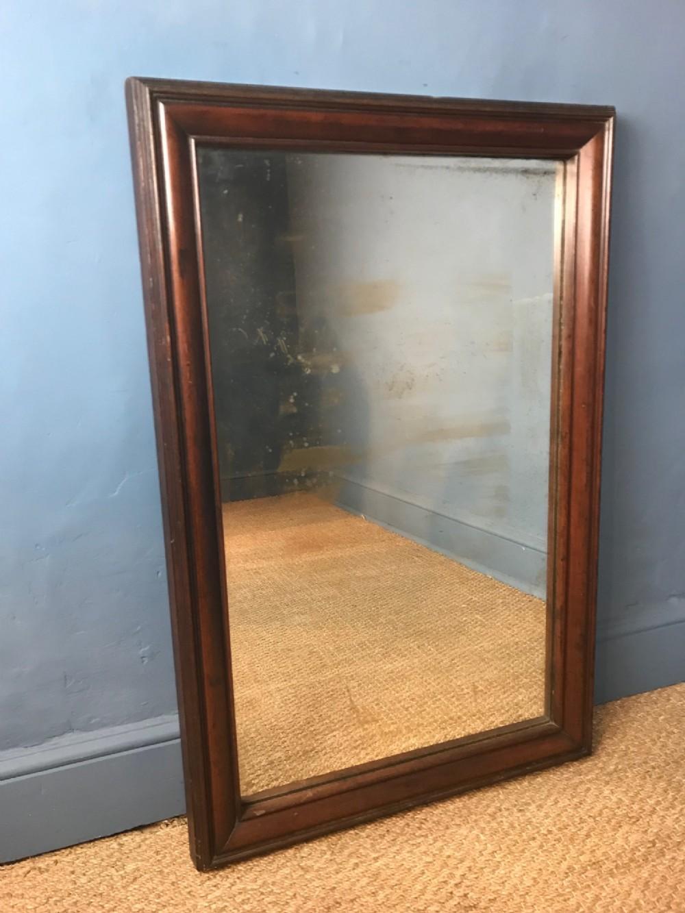 an early victorian mahogany mirror circa 1850