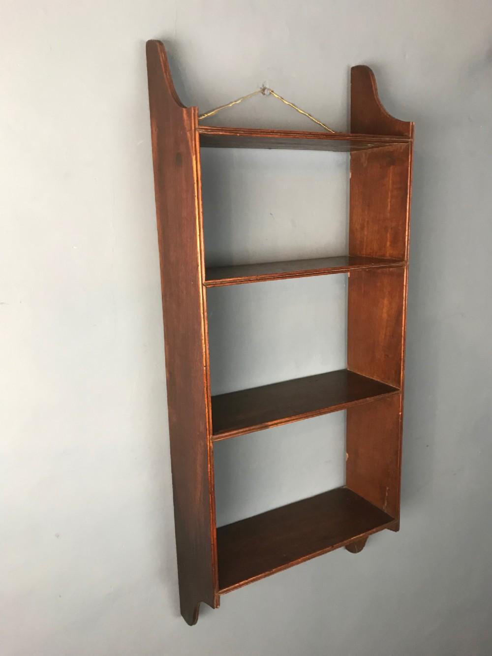 a set of george 111 mahogany wall shelves circa 1800