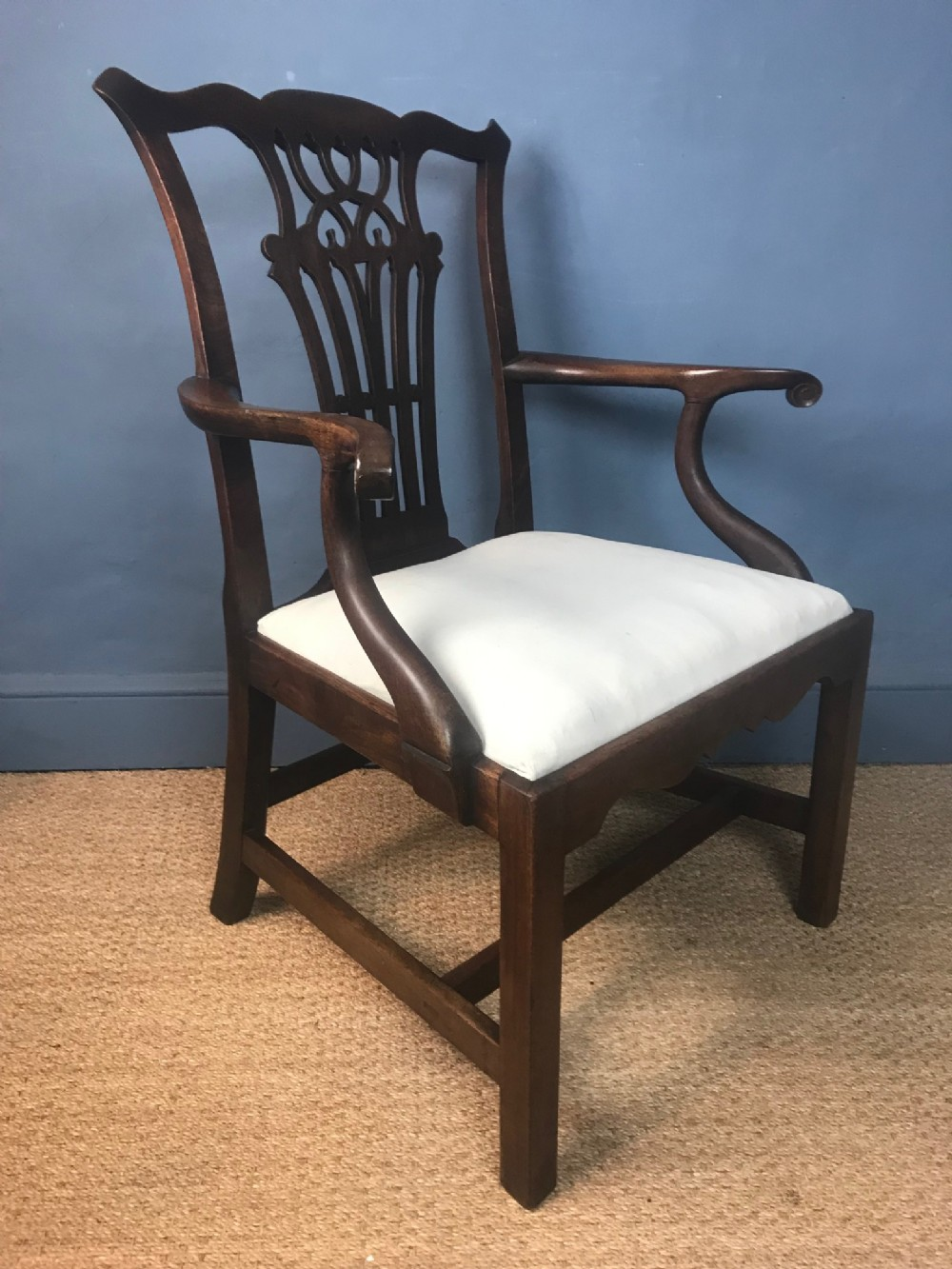 a chippendale period mahogany armchair circa 1770