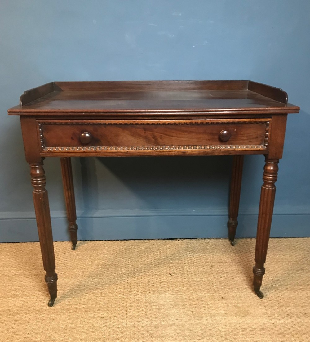 a regency mahogany side table circa 1820 in the manner of gillows