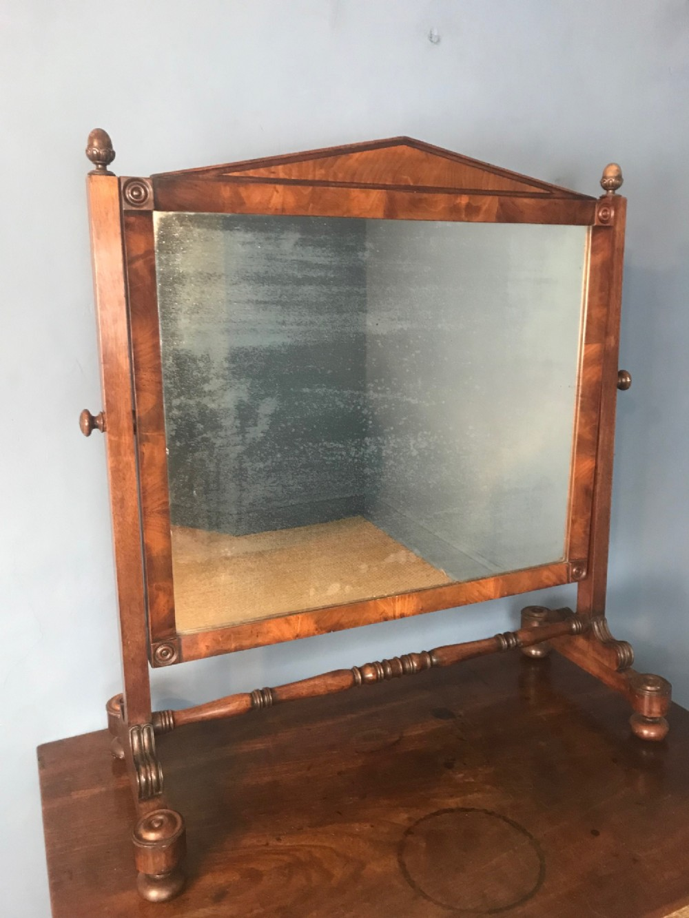 a regency mahogany dressing table mirror attributed to gillows of lancaster circa 1820
