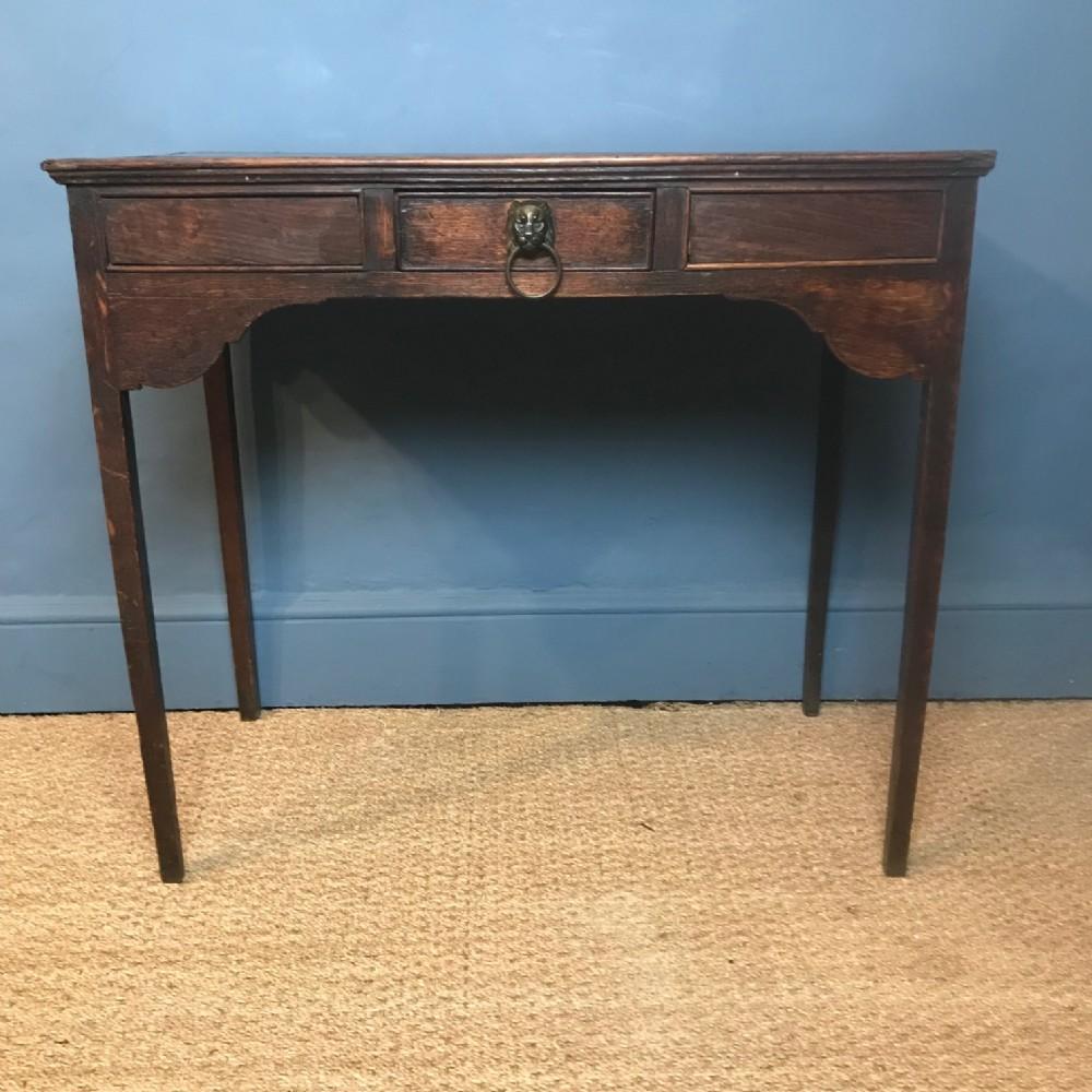 a george 111 oak side table circa 1820