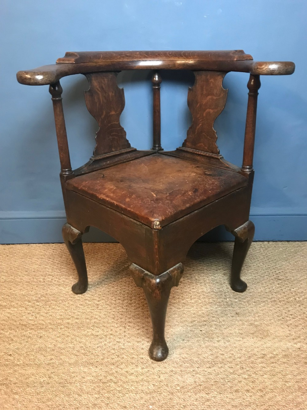 a george 111 oak corner chair circa 1820