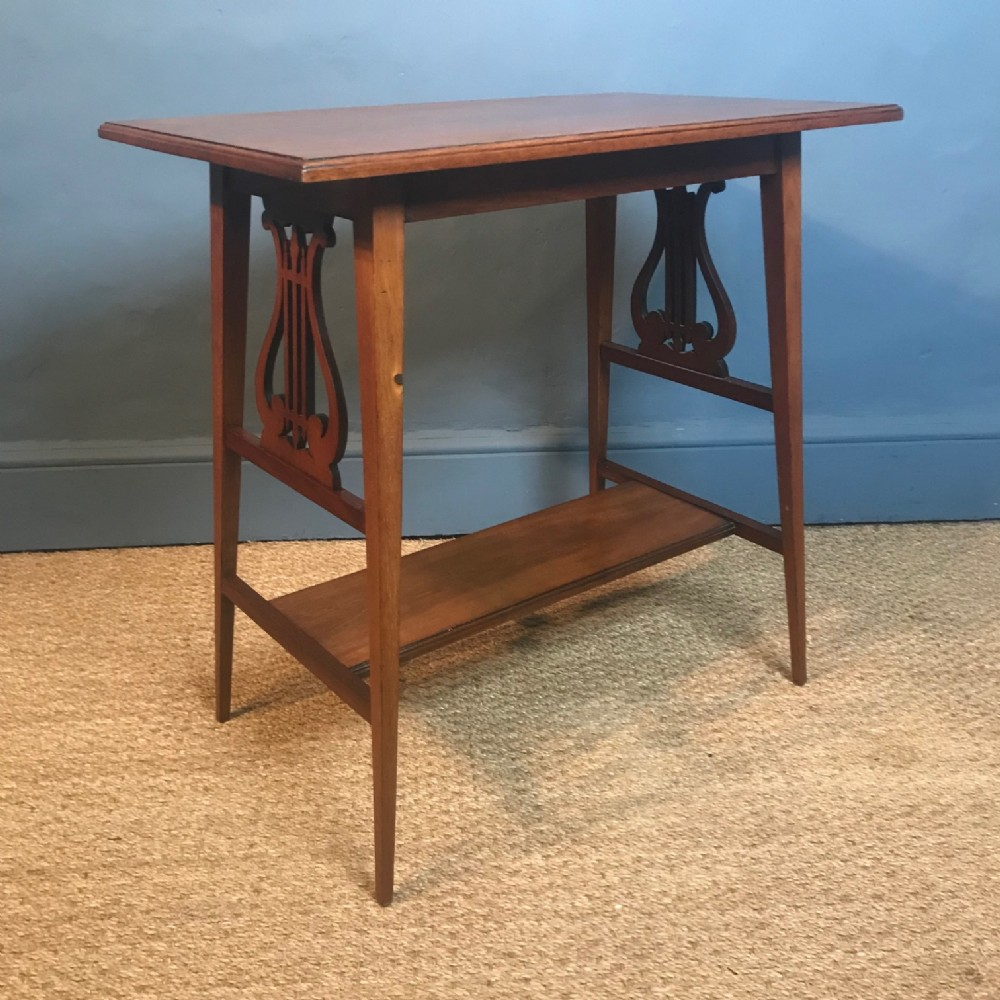 an aesthetic movement walnut table circa 1880