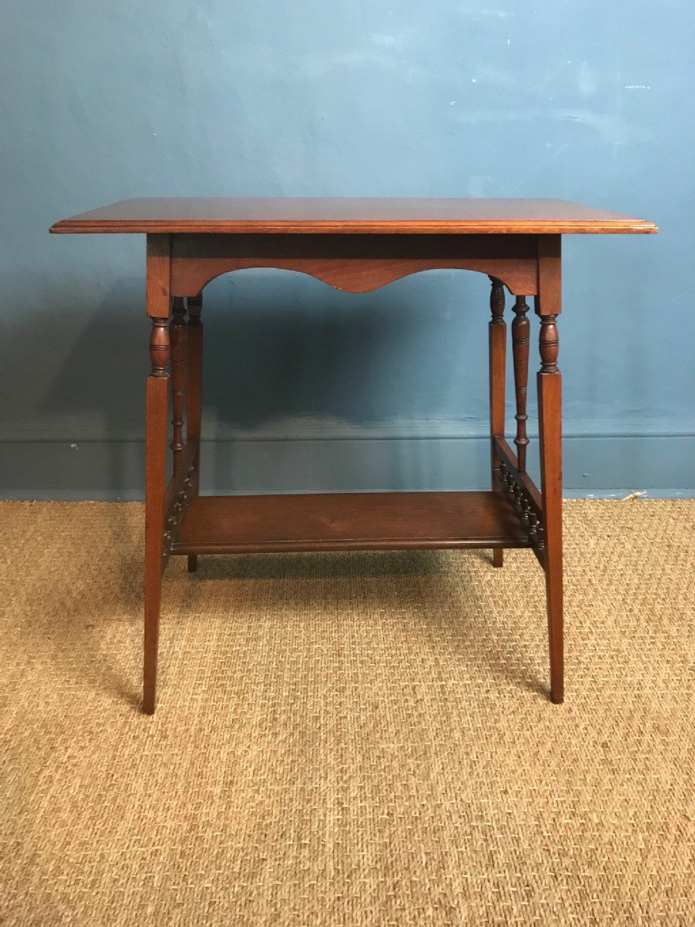 an aesthetic movement mahogany rectangular table circa 1880