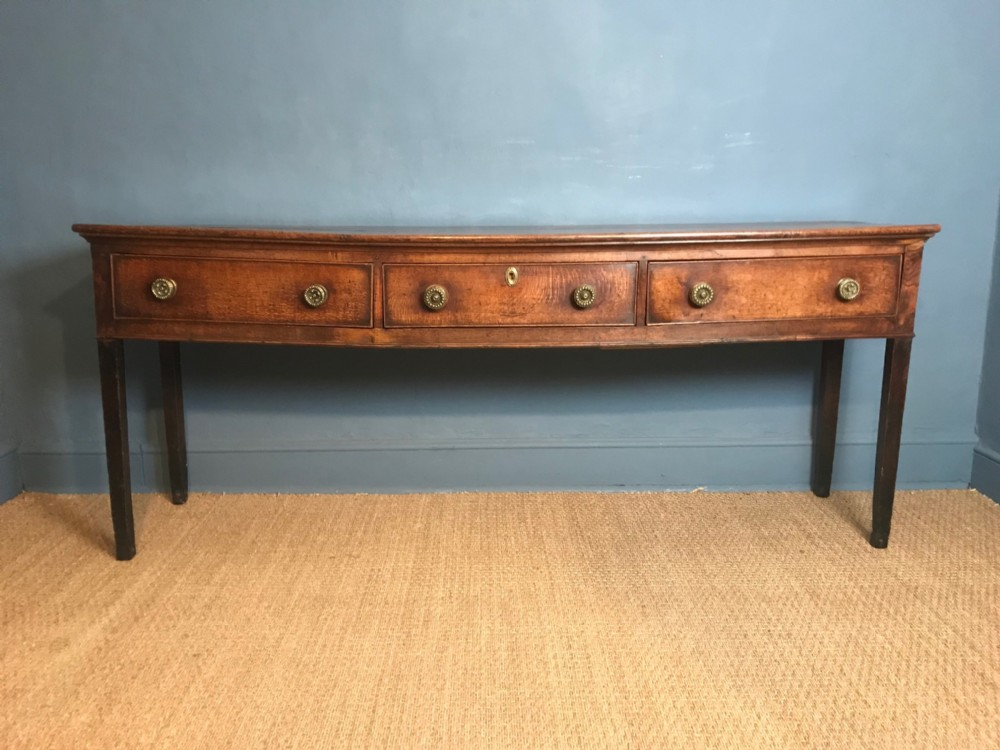a large george 111 somerset oak dresser circa 1820