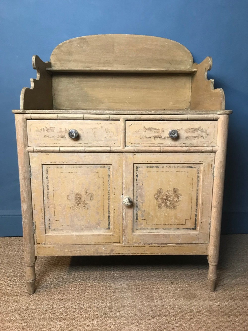 a regency painted washstand circa 1820 with the original decoration