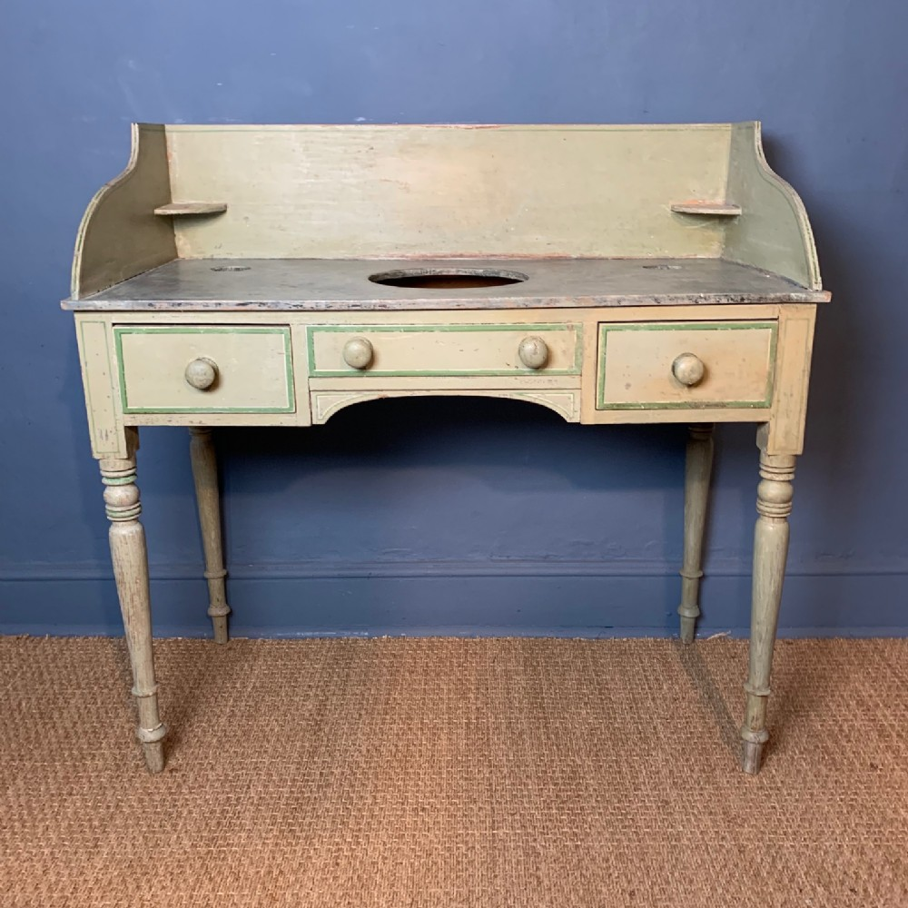 a regency painted pine wash stand c 1830