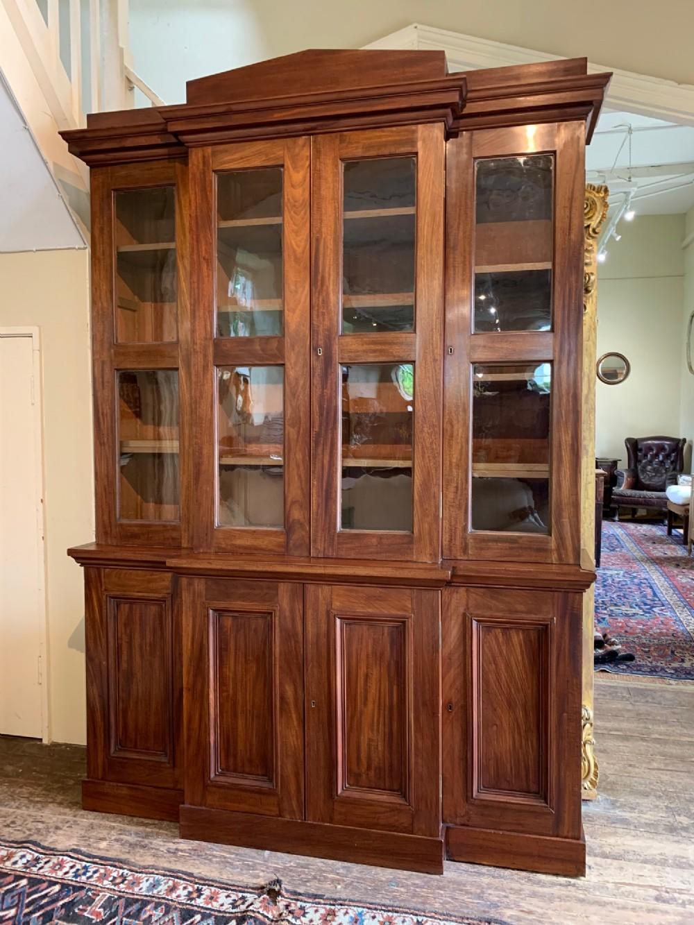 a william iv mahogany library bookcase circa 1835 of architectural form