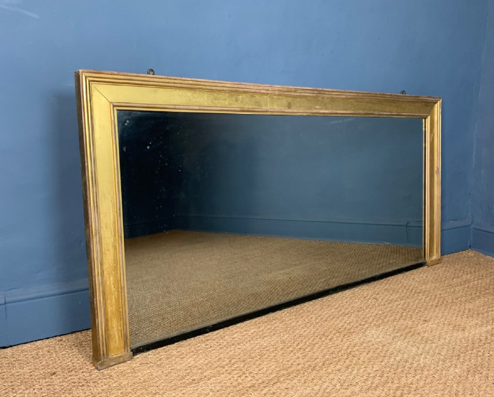 a large george iv gilt over mantel mirror circa 1830