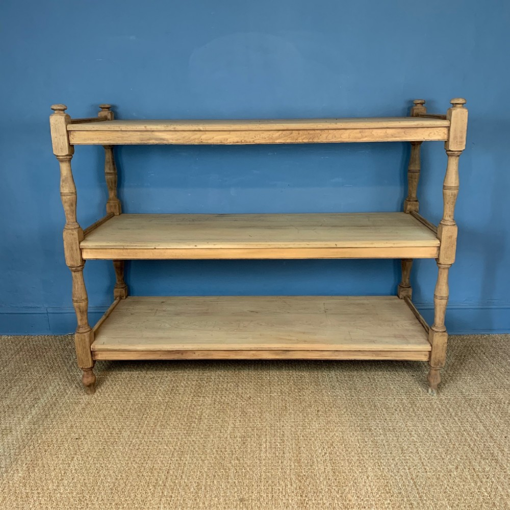 a large victorian country house dry birch wood 3 tier stand circa 1870