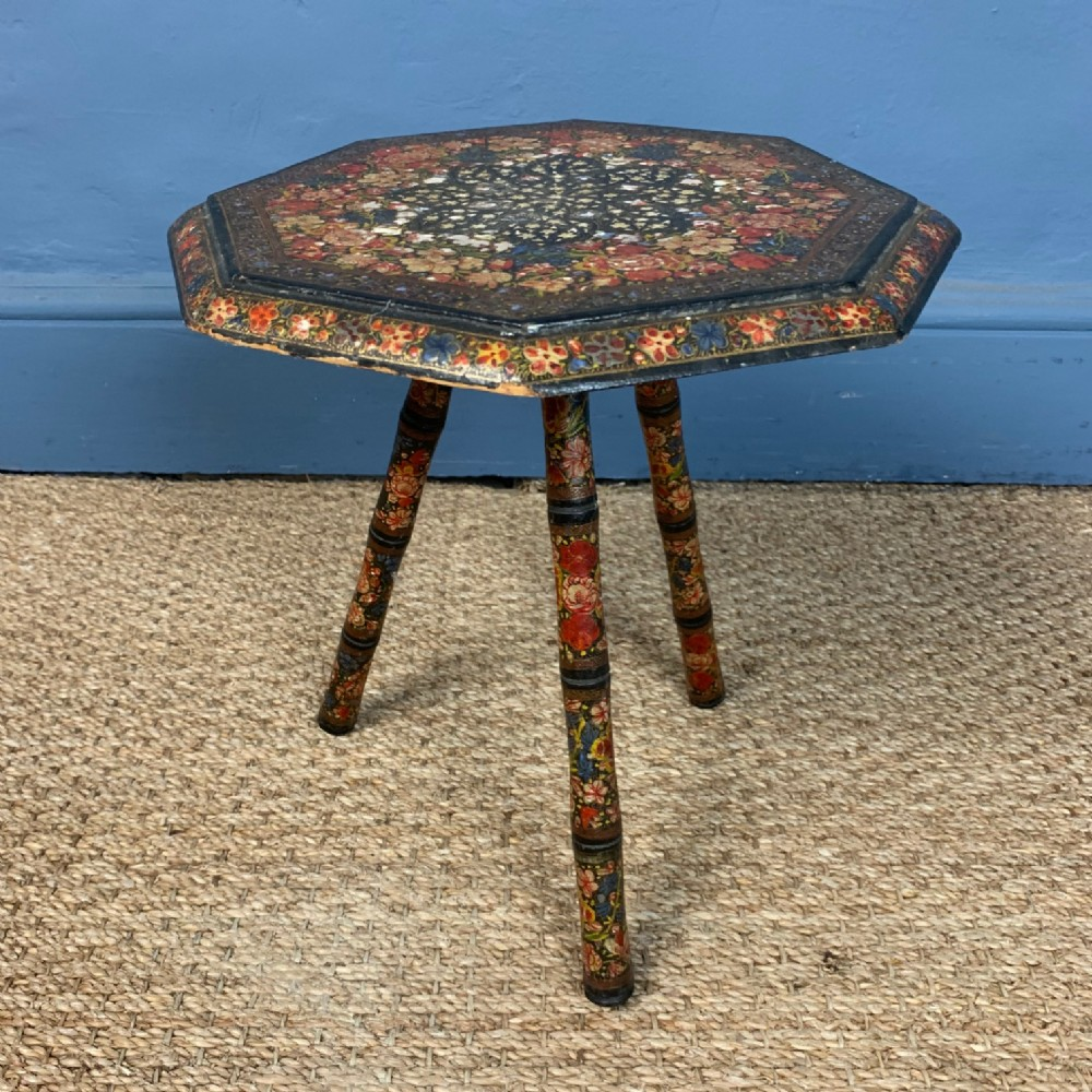 a small kashmir painted table northern india c 1910