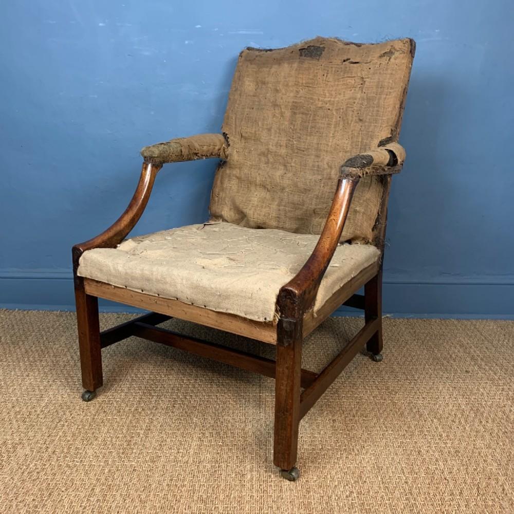 a george 111 chippendale period mahogany gainsborough chair c 1770