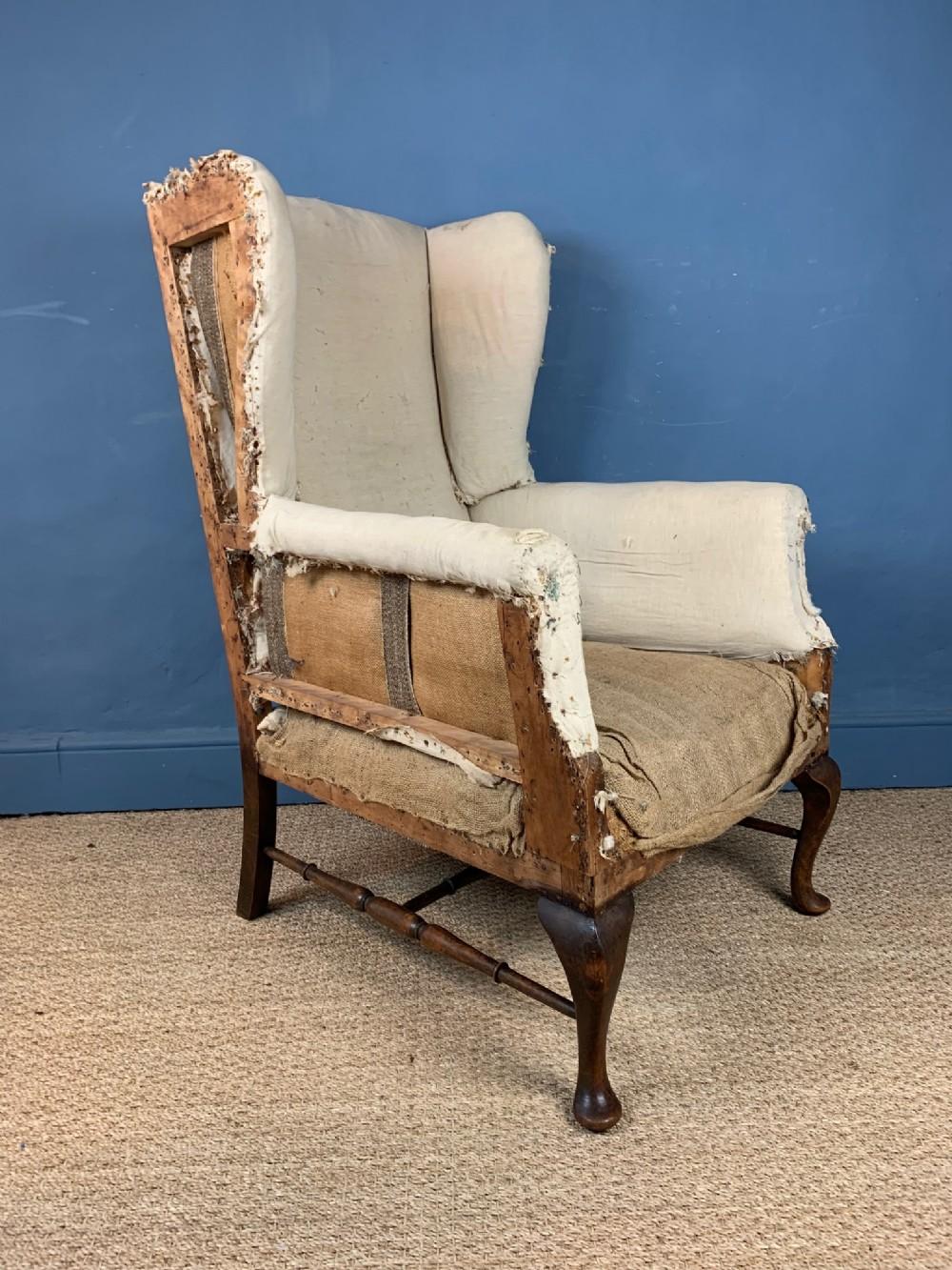 an edwardian mahogany wing armchair circa 1910