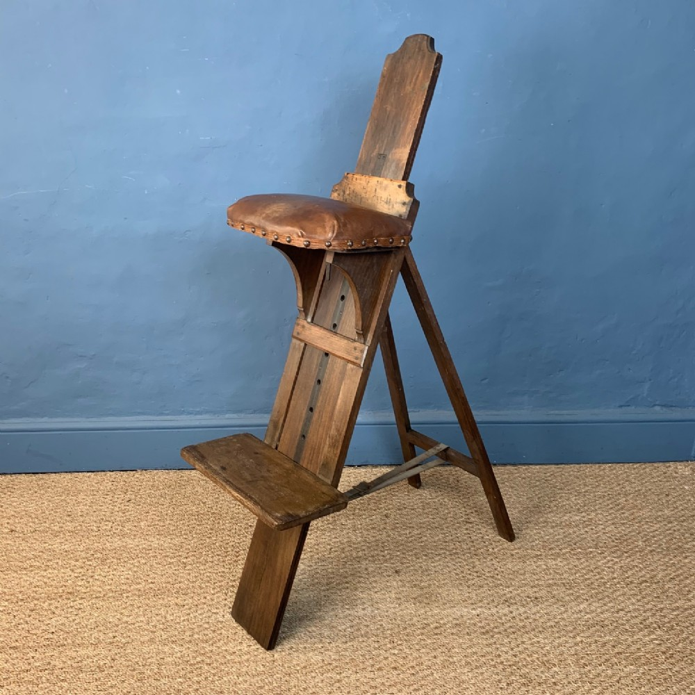a rare edwardian pine and beech artist or sculptors seat circa 1900