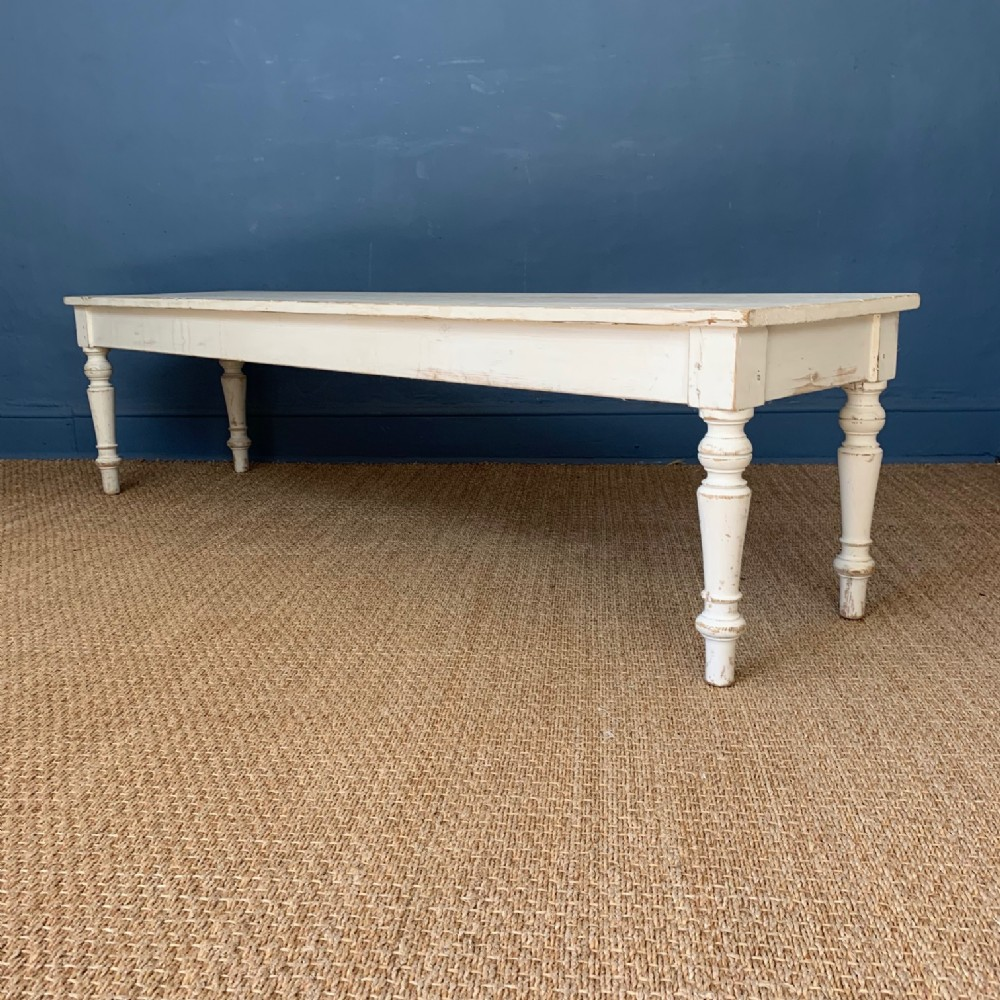 a late victorian white painted pine window seat circa 1900