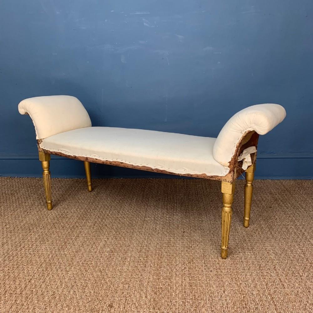 a george 111 adam period gilt window seat circa 1790