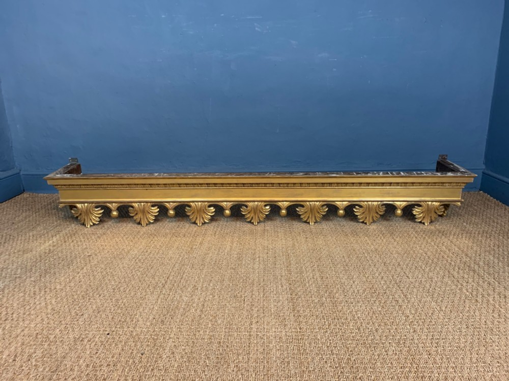 a fine quality william iv carved gilt wood pelmet circa 1835