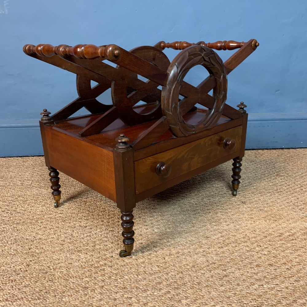 a william iv mahogany canterbury circa 1835 to a design by j c loudon