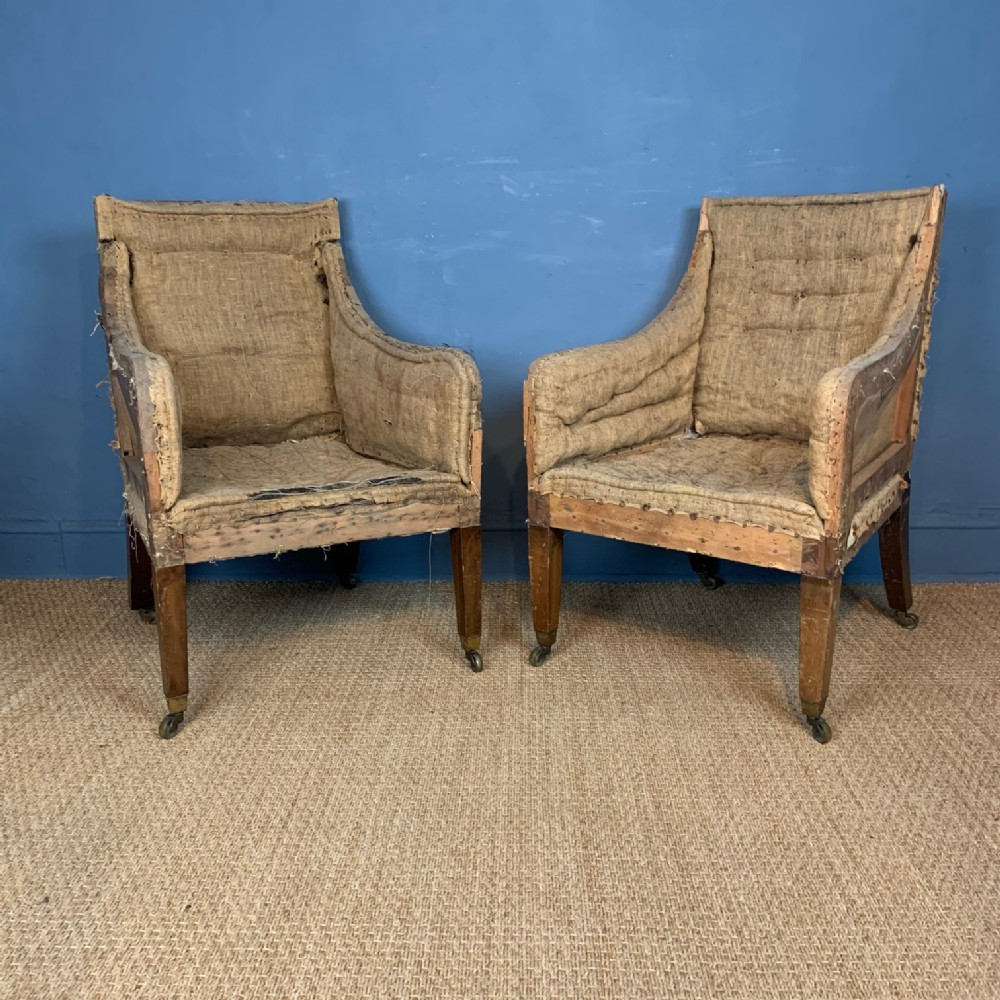 a pair of george iv mahogany library chairs circa 1830