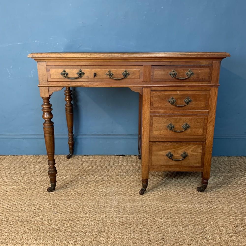 a victorian walnut desk circa 1880