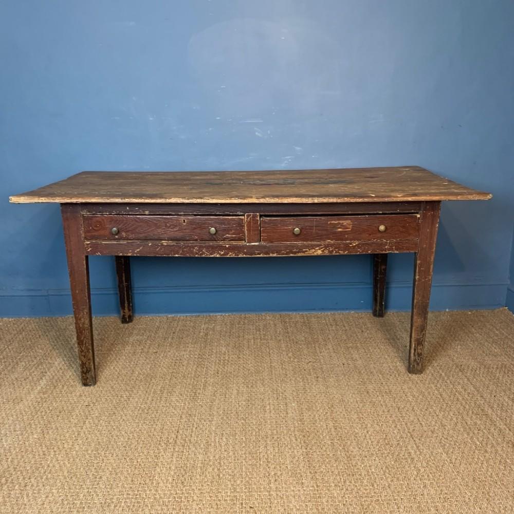 a georgian west country pine kitchen table devon circa 1820