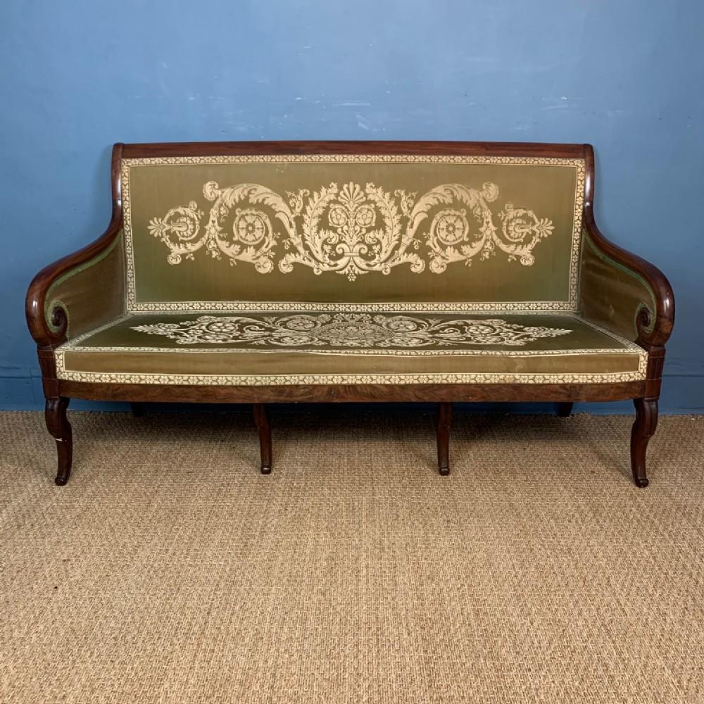 a charles x mahogany sofa circa 1830