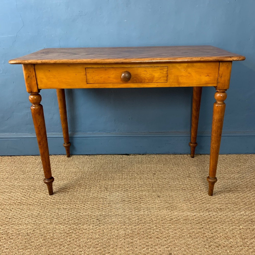 a victorian satin birch two drawer side table circa 1880