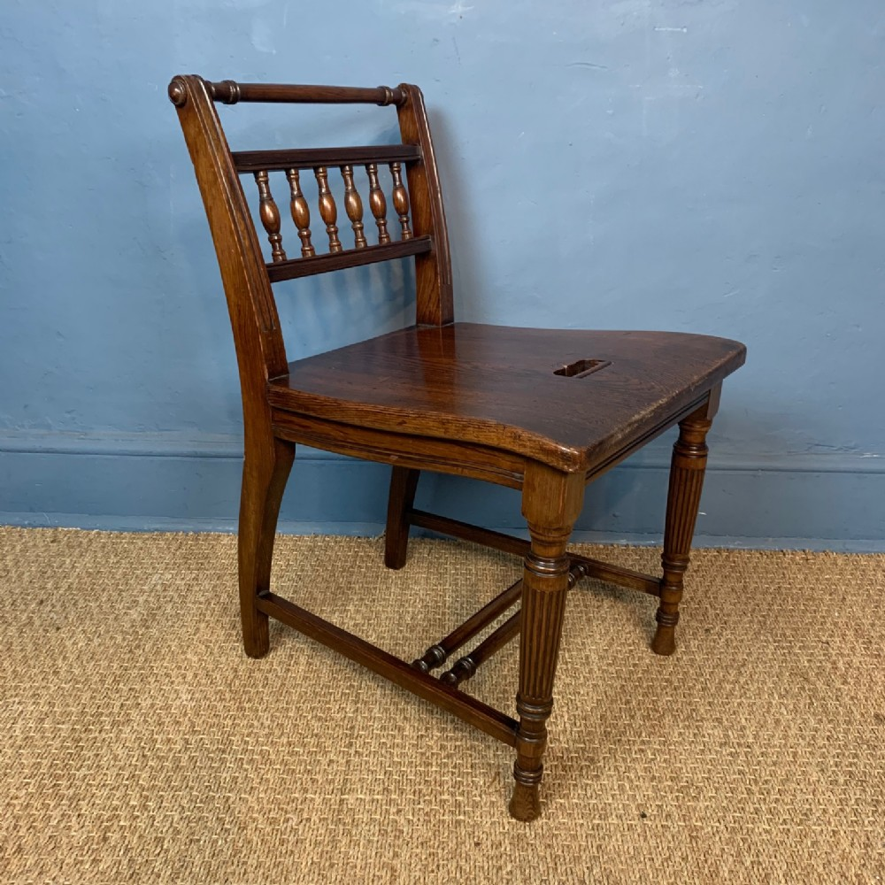 an aesthetic movement oregon pine low chair circa 1880