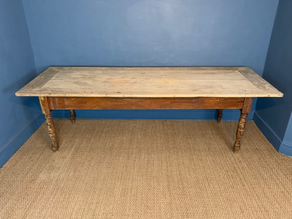 an 8ft victorian pine refectory kitchen table circa 1880