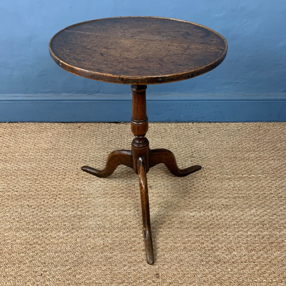 a george 111 oak tripod table circa 1800
