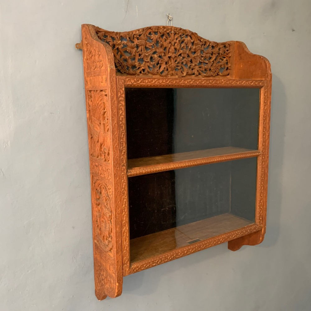 an anglo indian teak wall cabinet circa 1890 bombay presidency