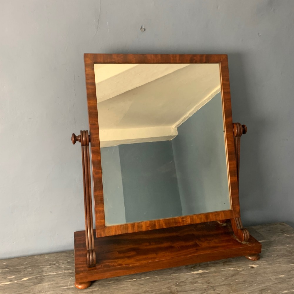 a george iv gillows mahogany swing frame toilet mirror c 1825