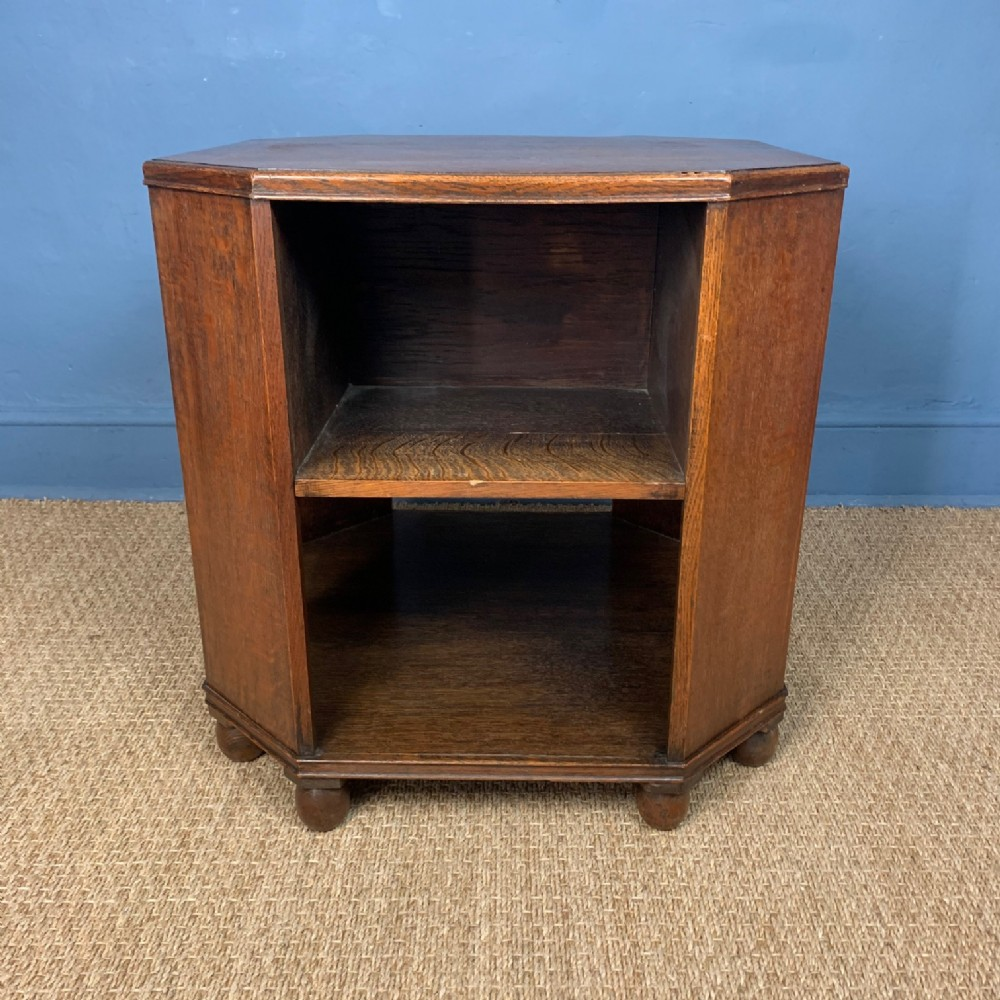 a heals oak book table circa 1930 in fumed oak