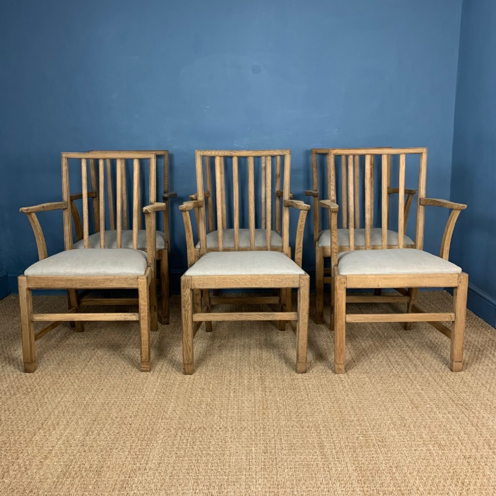 a set of 6 oak gordon russell dining chairs designed in the late 1930s