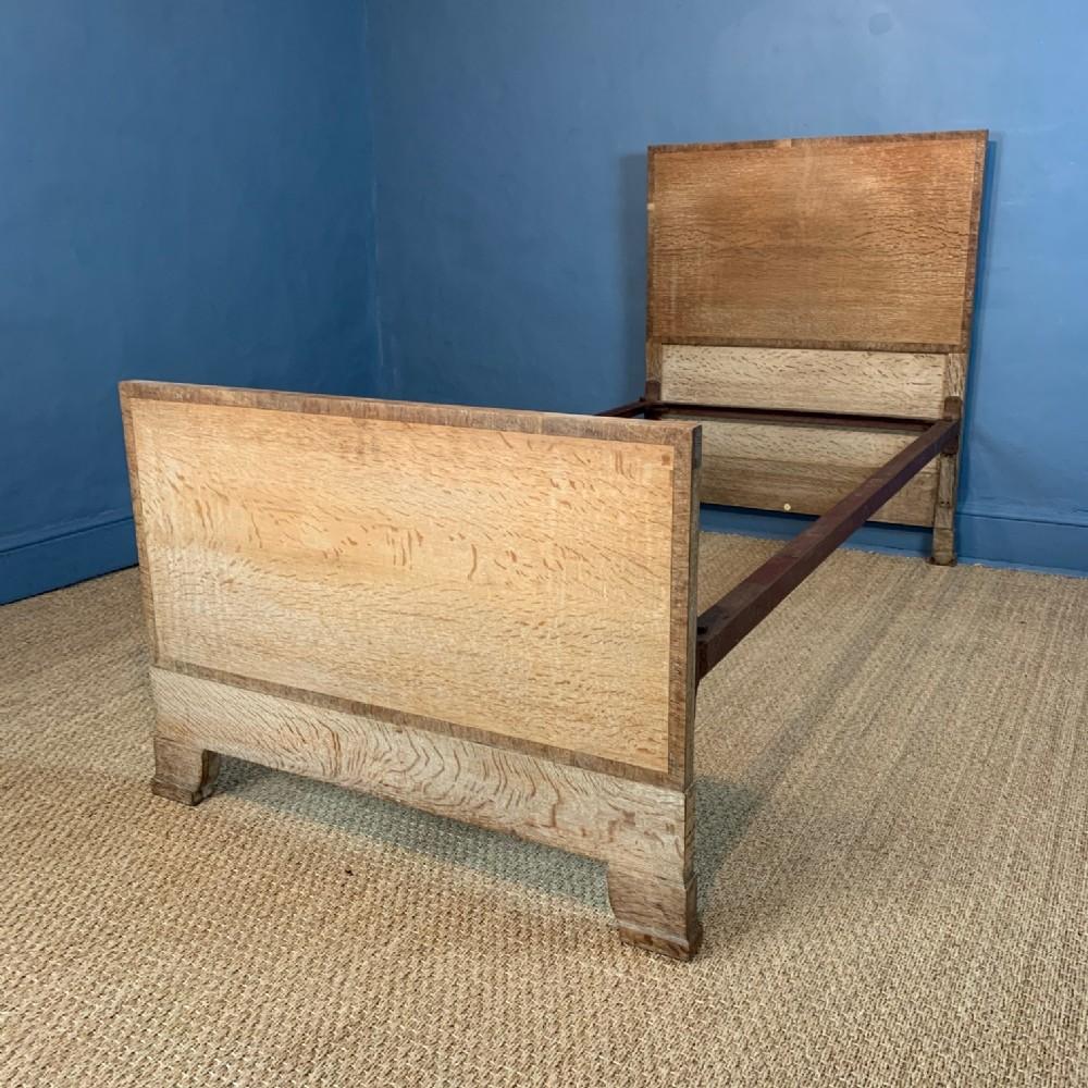 a heals and son oak single bed circa 1930