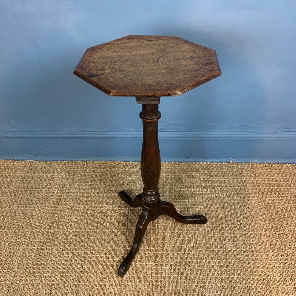 an early 19th oak octagonal top provincial tripod table west country c 1830