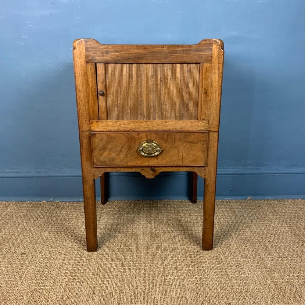 a george 111 faded mahogany bedside table circa 1780