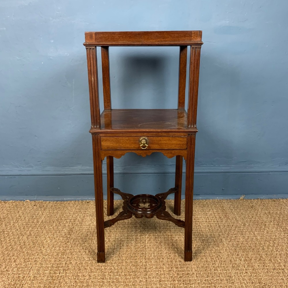 a george 111 mahogany two tier bedside table circa 1780