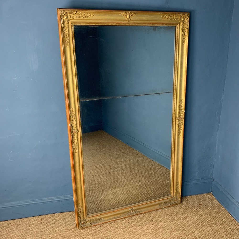 a large mid 19th century french gilt mirror circa 1850