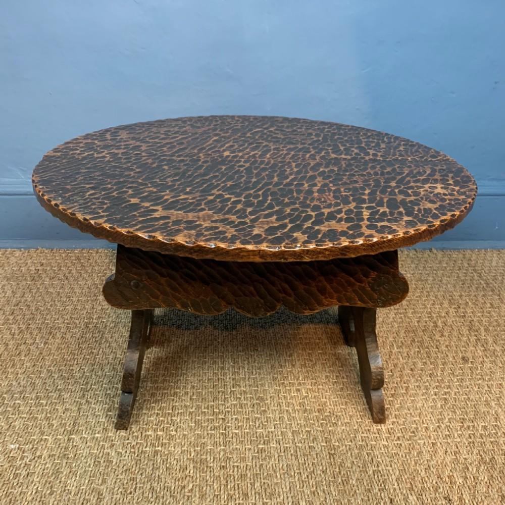 an unusual edwardian rusticated low table circa 1910