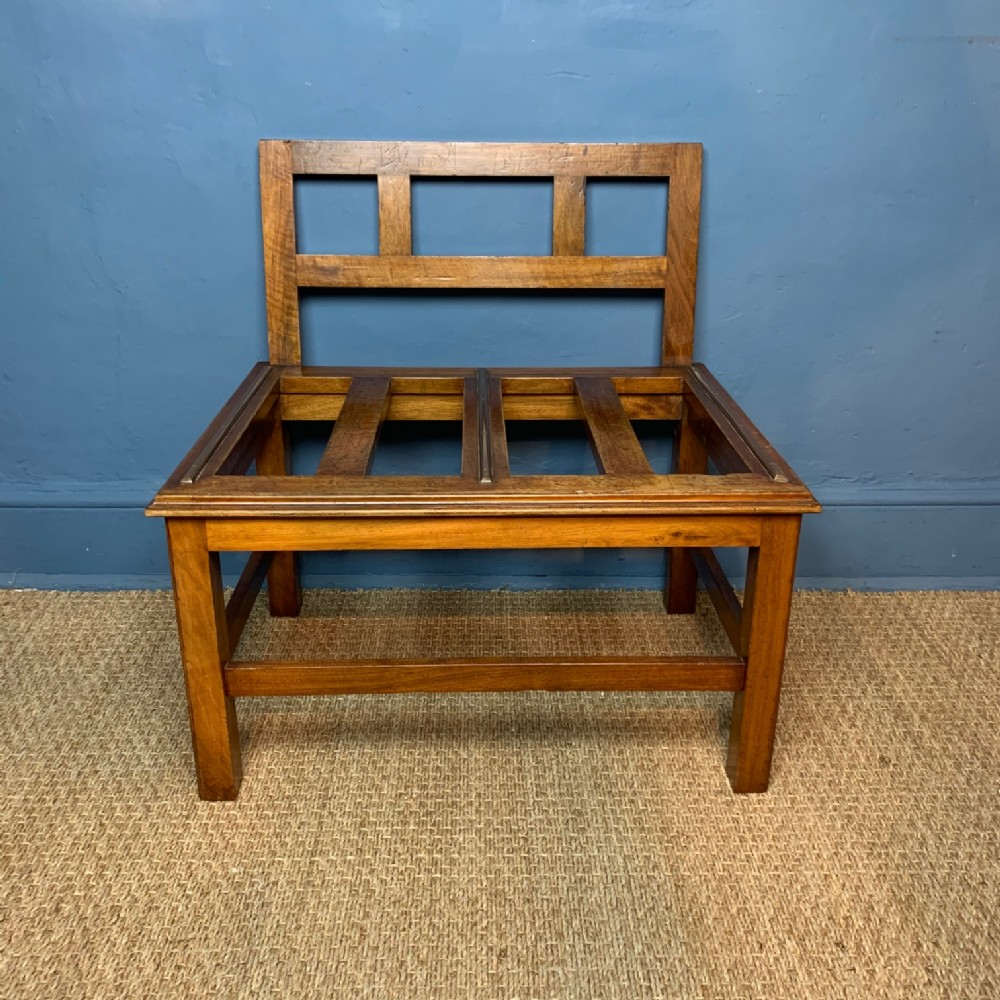 a large late victorian single walnut luggage rack circa 1900 by trollope and co london