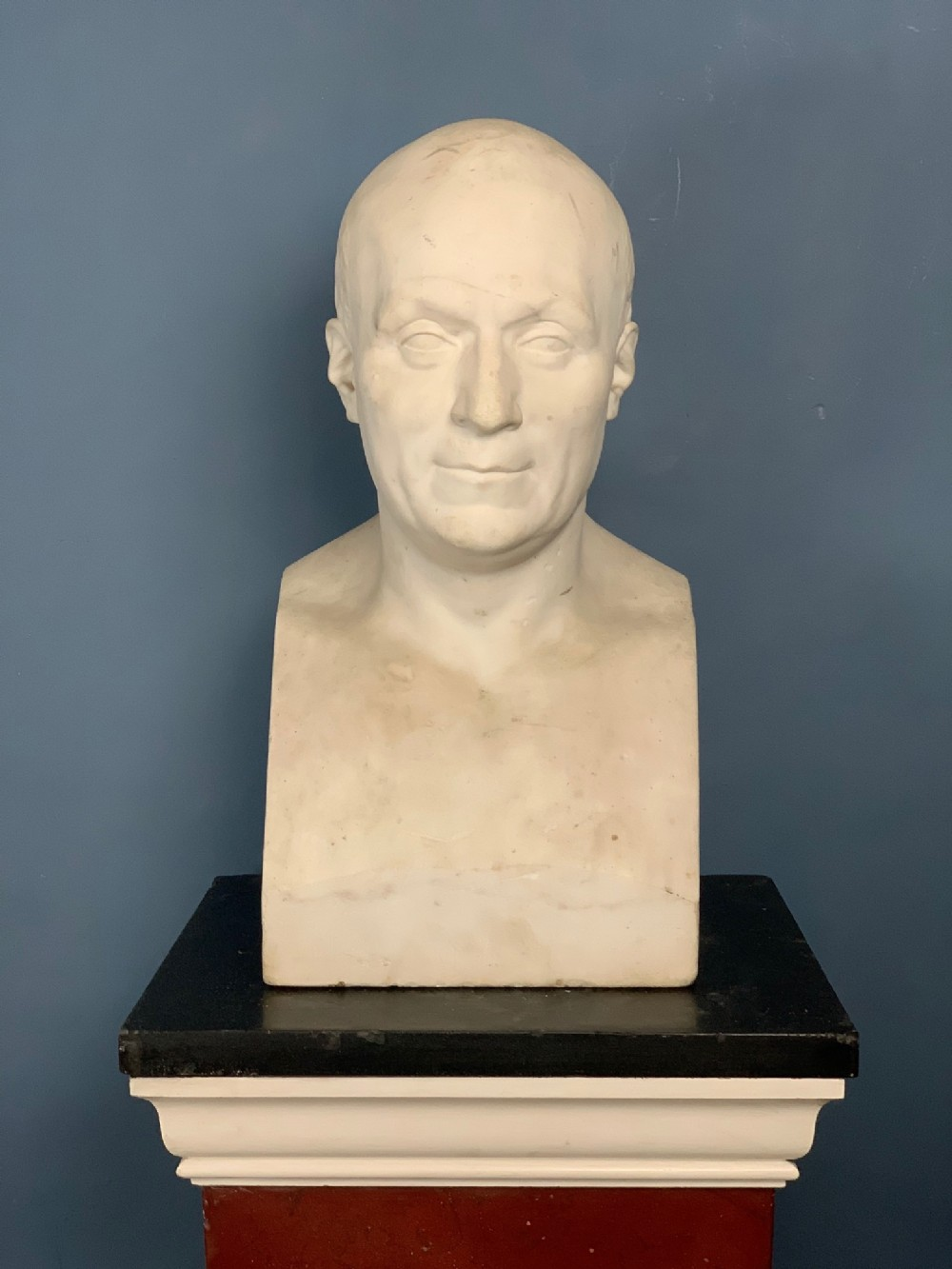 a george iv statuary marble bust of a gentleman circa 1830