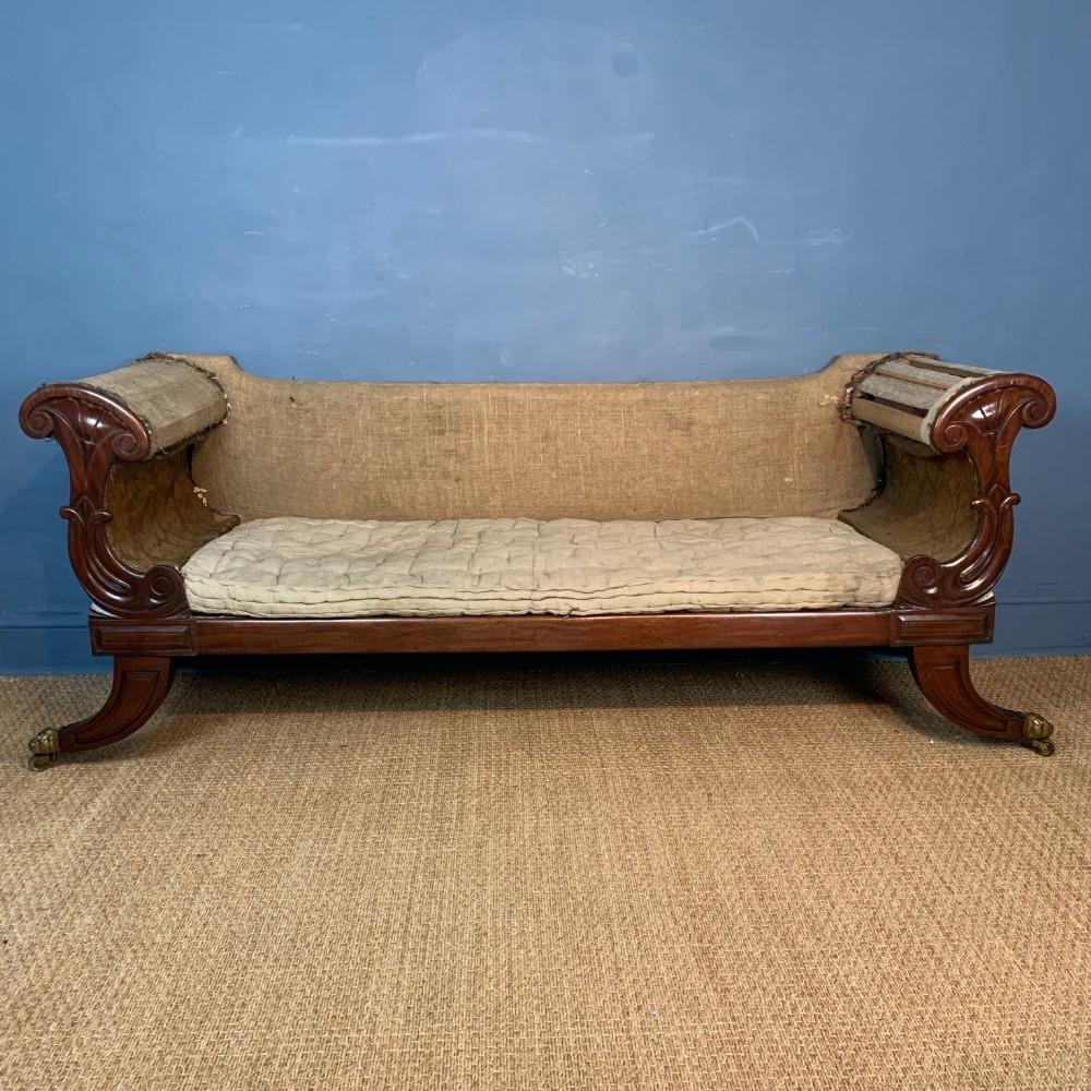 a george iv mahogany sofa circa 1825 in the grecian style
