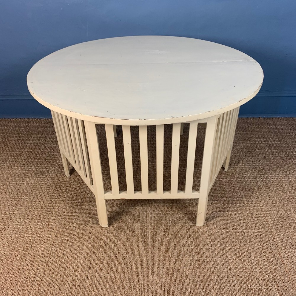 a glasgow school painted low table circa 1910