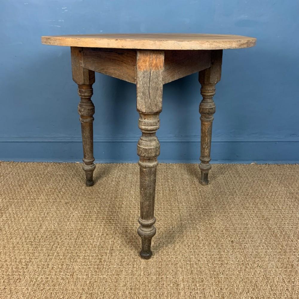 a victorian pine and oak cricket table circa 1890