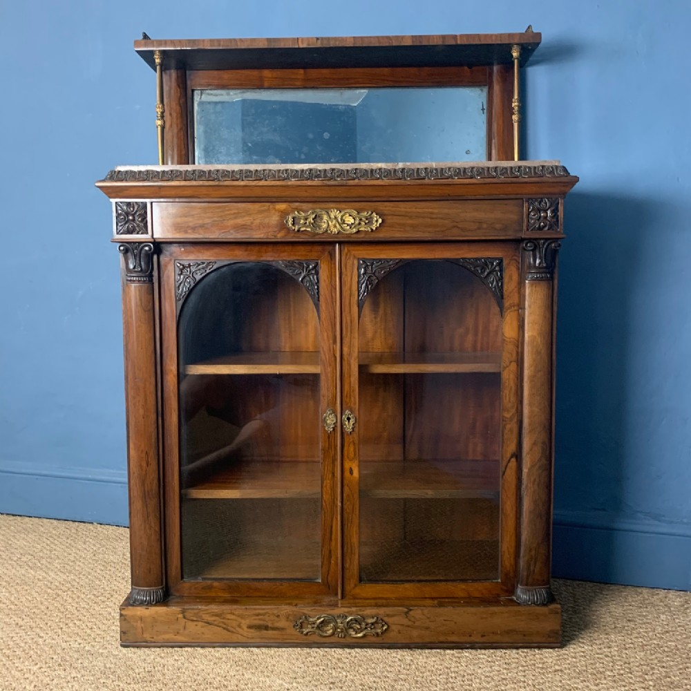 a george iv rosewood library cabinet by gillows circa 1825