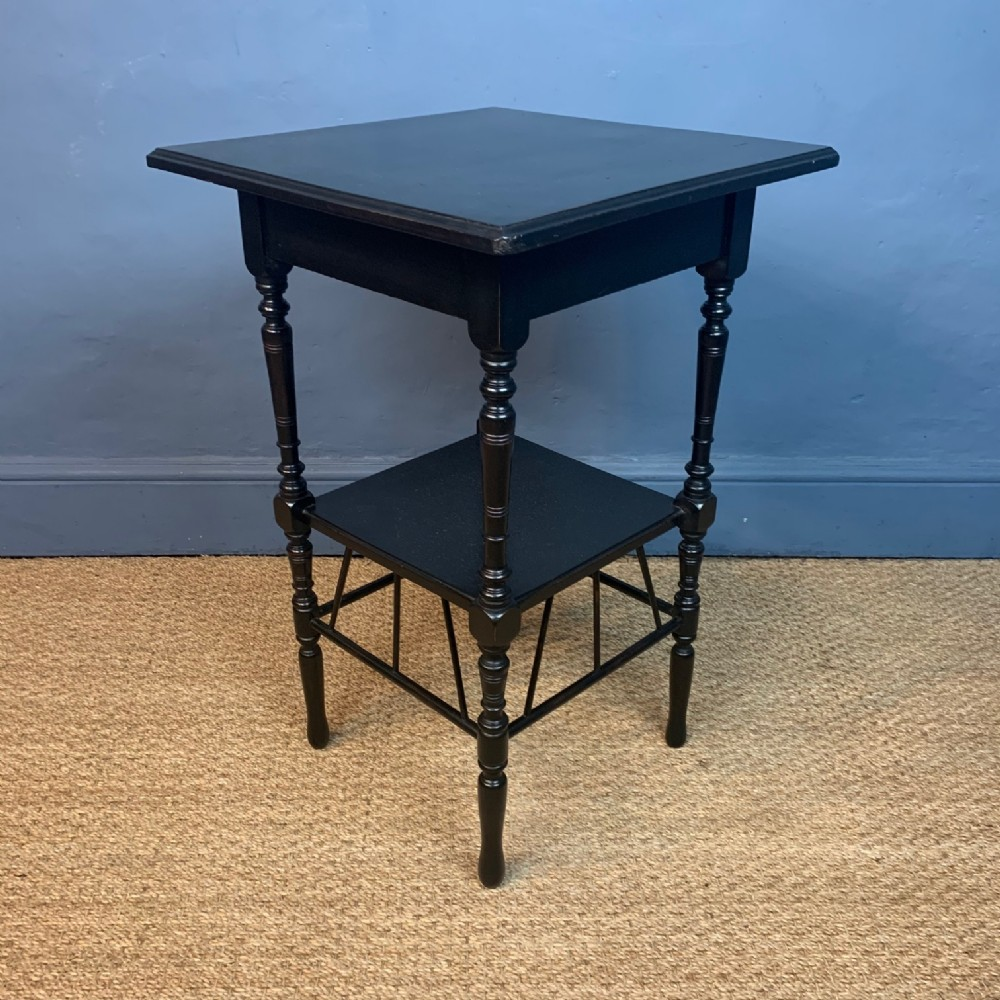 an aesthetic movement ebonised e w godwin two tier table c 1880