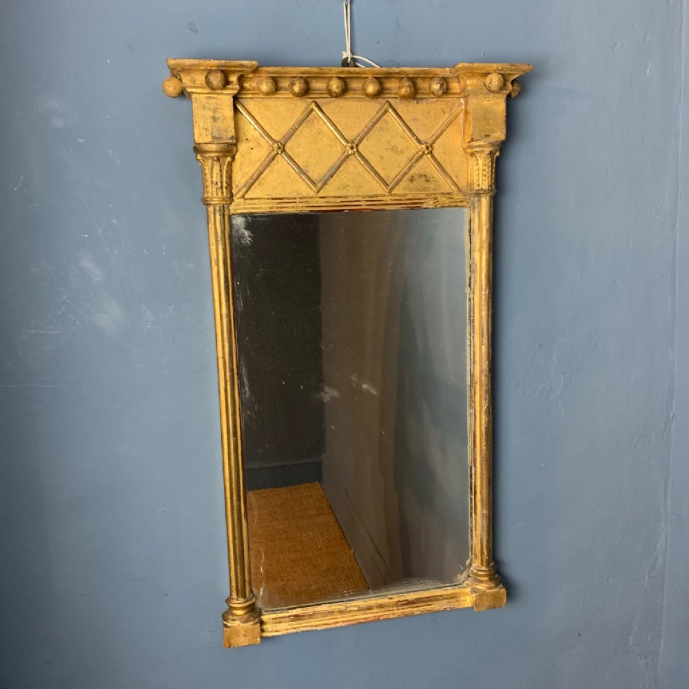 a small regency gilt pier mirror c 1820