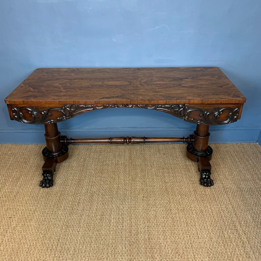 an early victorian rosewood writing table circa 1840